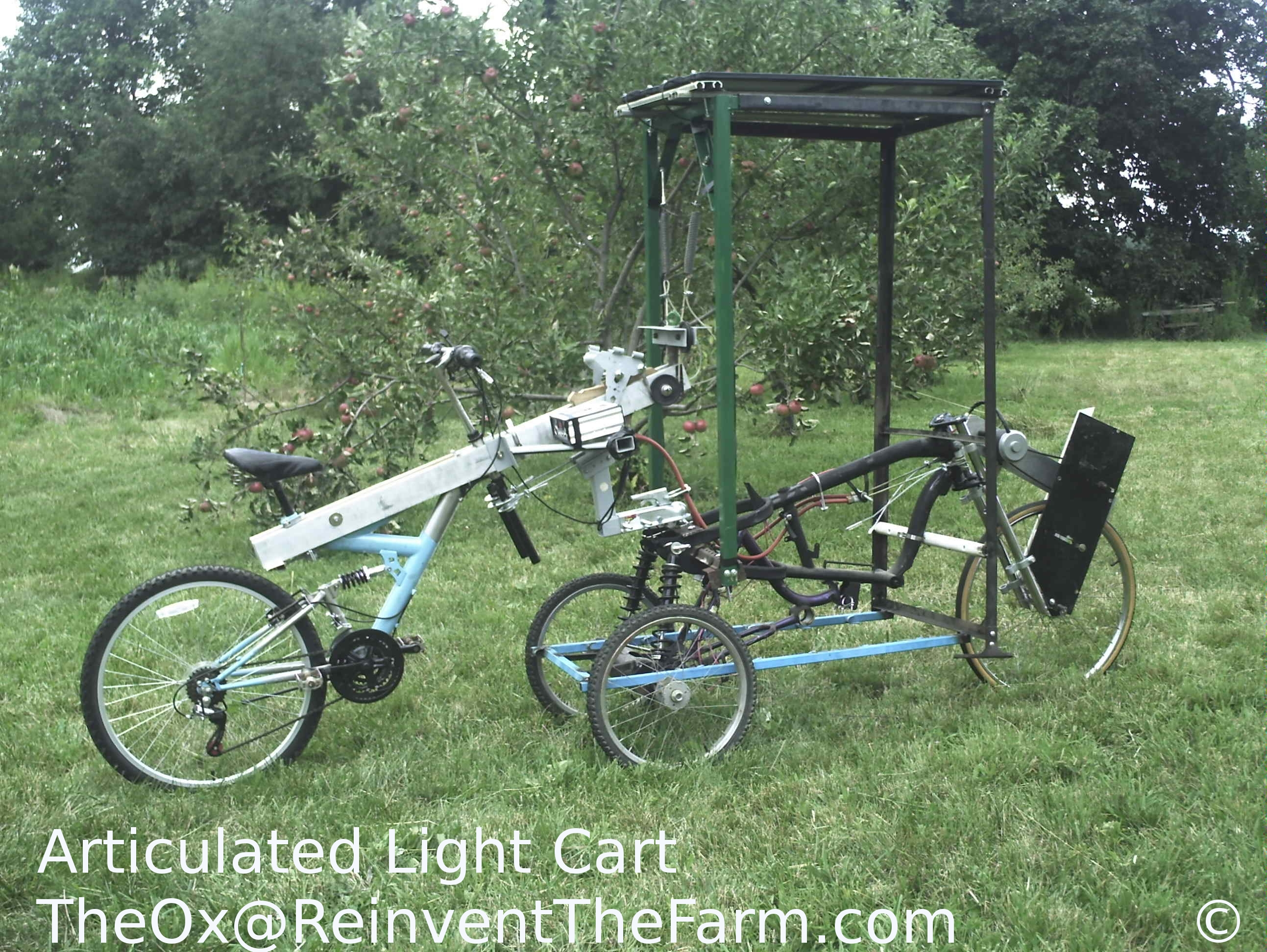 Prototype Articulated Light Cart Hybrid vehicle